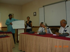 Presentation of action plan
